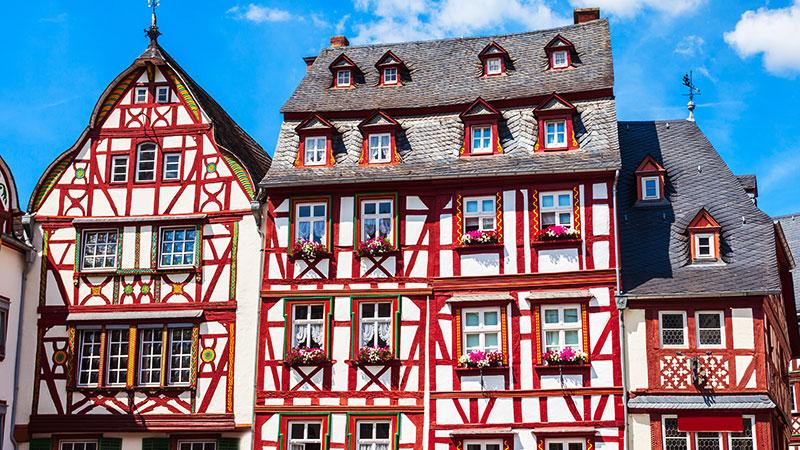 Vakre bygninger med unik arkitektur i Bernkastel-Kues